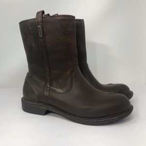 Bogs Mason Leather Rain Boots  Brown